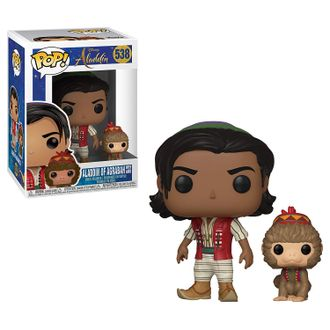 Фигурка Funko POP! Vinyl: Disney: Aladdin (Live): Aladdin with Abu