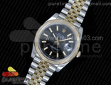 DateJust 41 126333 YG Wrapped YG Dial on SS/YG Jubilee Bracelet Black Dial