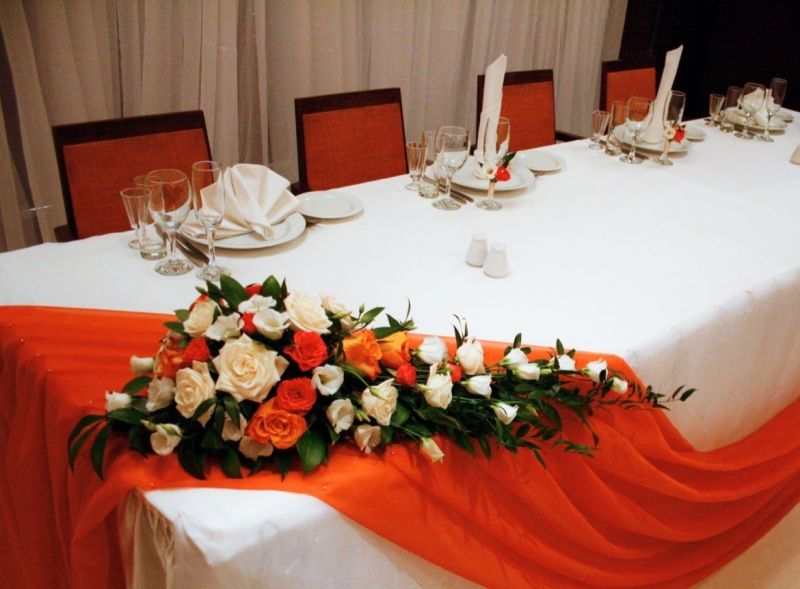Украшение своими руками столов на свадьбу