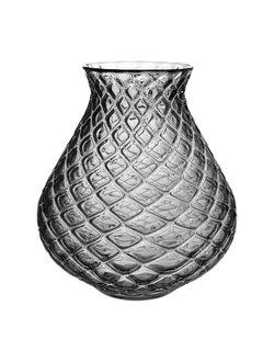Ваза VASE DRAGO GREY D23XH27.5CM GLASS 29930
