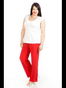 Комфортные летние брюки 212-Lux (красный) Размерный ряд: 54-70