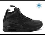 Nike Sneakerboot с мехом мужские черные