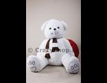 """Белый плюшевый медведь """"Доменик"""" 170 см."""