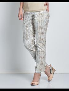 Укороченные брюки с принтом-рептилия Седжо-9054. Размерный ряд: 48-54