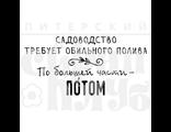 """ФП штамп """"Обильный полив"""""""