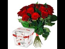 17 красных роз и Рафаэлло