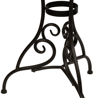200518 TABLE VOLUTES BROWN D71XH75CM IRON