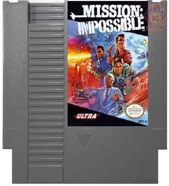 """Mission Impossible"""" Игра для NES (Made in Japan)"
