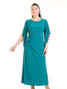 Платье нарядное 2681-PL (бирюзовый) Размерный ряд: 54-72. ТМ Прима Линия