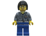 Coast Guard City - Female Station Manager, Short Black Hair with Glasses, n/a (cty0861)