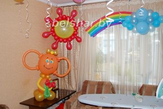 Как оформить комнату на день рождения ребёнка 1 год своими руками 88