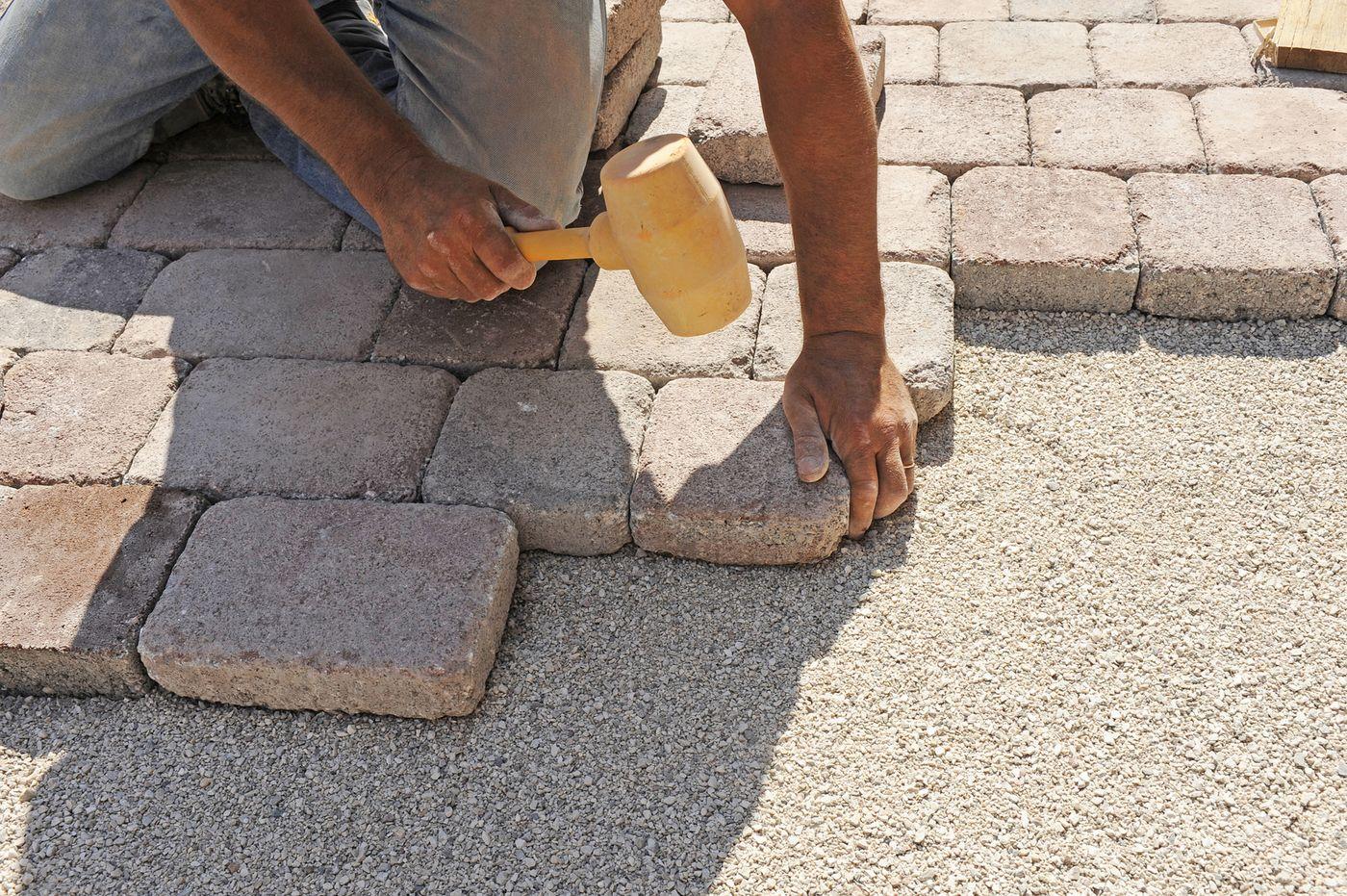 Укладка тротуарной плитки своими руками фото все