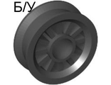 ! Б/У - Wheel Spoked 2 x 2 with Pin Hole, Black (30155 / 4156948) - Б/У