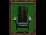 """Кресло для отдыха Adirondack - модель  """"ФЕОДАЛ"""", массив сосны."""
