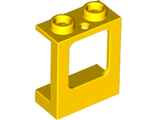 Window 1 x 2 x 2 Plane, Single Hole Top and Bottom for Glass, Yellow (60032 / 4521134 / 6153842)