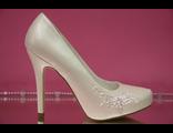 Свадебные туфли айвори на скрытой платформе стразы вышивка бисер высокий каблук фото цены сайт салон
