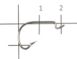Крючок Invisible Tip Offset Hook №4