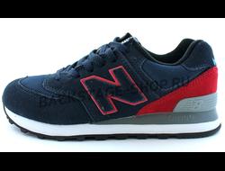 Женские кроссовки New Balance 574 Red/Blue сетка