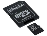 Карта памяти 8Gb MicroSD Kingston Class 10 + adapte8
