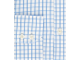 Рубашка HAWES & CURTIS Easy Iron Blue & White Grid Check Slim Fit