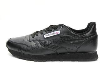 Мужские кроссовки Reebok Classic Black кожаные