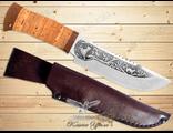 Нож Охотничий НС-29 (Рукоять: береста, Сталь: ЭИ-107, Тыльник: текстолит)