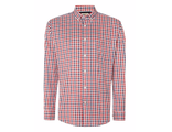 Рубашка T.M.LEWIN Check Slim Fit Button Down Shirt