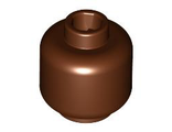 Minifigure, Head  Plain  - Hollow Stud, Reddish Brown (3626c / 4211218)