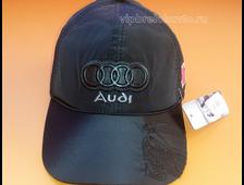 Бейсболка с логотипом Audi кожаный логотип (зима)