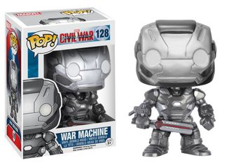 "Funko POP Marvel Captain America Civil War Action Figure ""War Machine"" № 128 - Фанко ПОП! Марвел Кап"