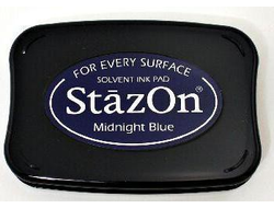 """Midnight Blue"" штемпельная подушка StazOn"