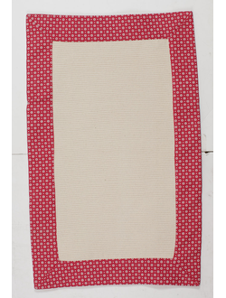 Коврик POINT RED+BEIGE 50X80CM Хлопок Comptoir de Famille