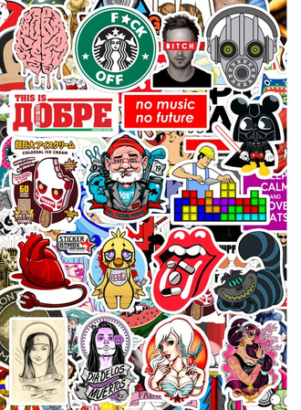 СтикерБук №9- Sticker Bombing Album №9