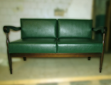 Диван и кресло на опоре из ясеня