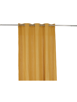 Шторы лен желтый CURTAIN BASIC CURRY 300X130CM LINENарт.32272