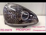 2170 Лада Приора PRO-SPORT RS-05678 фары светодиодные с линзой и ангельскими глазками тонированный хром корпус