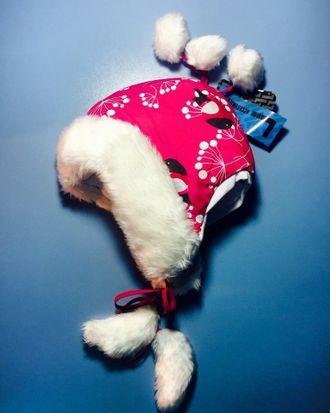 Теплая зимняя шапка-ушанка Lummie цвет Sweet Raspberry