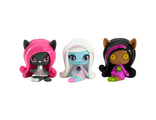 Мини-фигурки Monster High Minis Rag Doll Ghouls Clawdeen, Candy Ghouls Abbey Bominable & Original Ghouls Catty Noir Figure/ Комплект из 3-ех мини-фигурок Кэтти Нуар, Эбби и Клодин Вульф