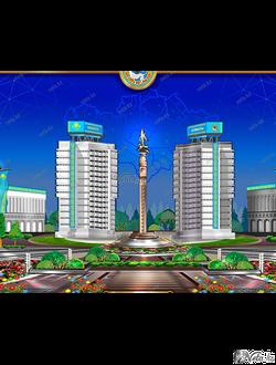 """Векторная иллюстрация """"Монумент независимости Казахстана"""""""
