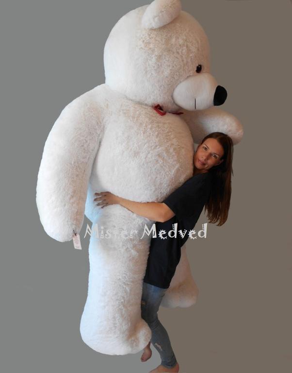 fb1c800a4aab гигантский плюшевый мишка · Мистер Медведь Гигант 2 м 50 см, белый цвет