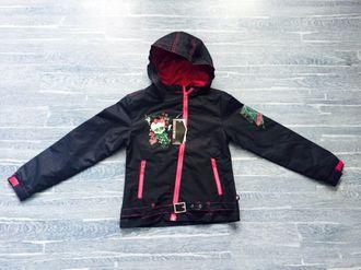 Демисезонная мембранная куртка Monster High (Школа Монстров) цвет черный. Модель 3D