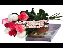 Коробка шоколада с мульти-розой