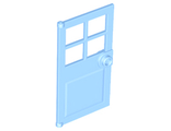 Door 1 x 4 x 6 with 4 Panes and Stud Handle, Bright Light Blue (60623 / 6285266)