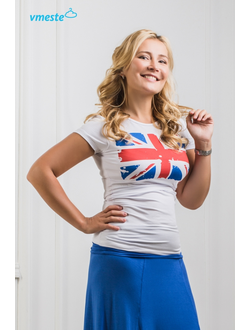 White t-shirt with Union Jack