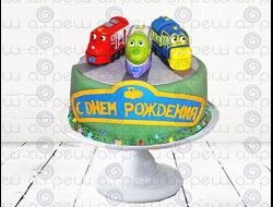 """Торт № 8 """"Паровозики из Чаггингтона"""" (Детские торты)"""