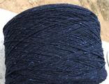 СARDATO ( ACADEMIA), 80% шерсть, 20% ПА , 320м/100 гр, темно синий с голубыми и молочными крапинками, цена за кг, продается бобинами , средний вес бобины 900 гр