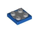 Turntable 2 x 2 Plate, Complete Assembly with Light Bluish Gray Top, Blue (3680c02 / 4219825)