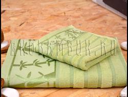 Бамбуковое полотенце Спорт класса зеленый 48х98