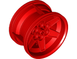 Wheel 56mm D. x 34mm Technic Racing Medium, 6 Pin Holes, Red (15038 / 6149984)