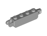Hinge Brick 1 x 4 Locking with 1 Finger Vertical End and 2 Fingers Vertical End, Light Bluish Gray (30387 / 4211695)